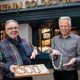 Einzelstücke waren die Spezialität der Goldschmiede Hans und Roland Senn. (Bild: Ralph Ribi)