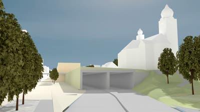 Visualisierung der überdachten Zentralstrasse im Zentrum von Ebikon (Bild: PD)