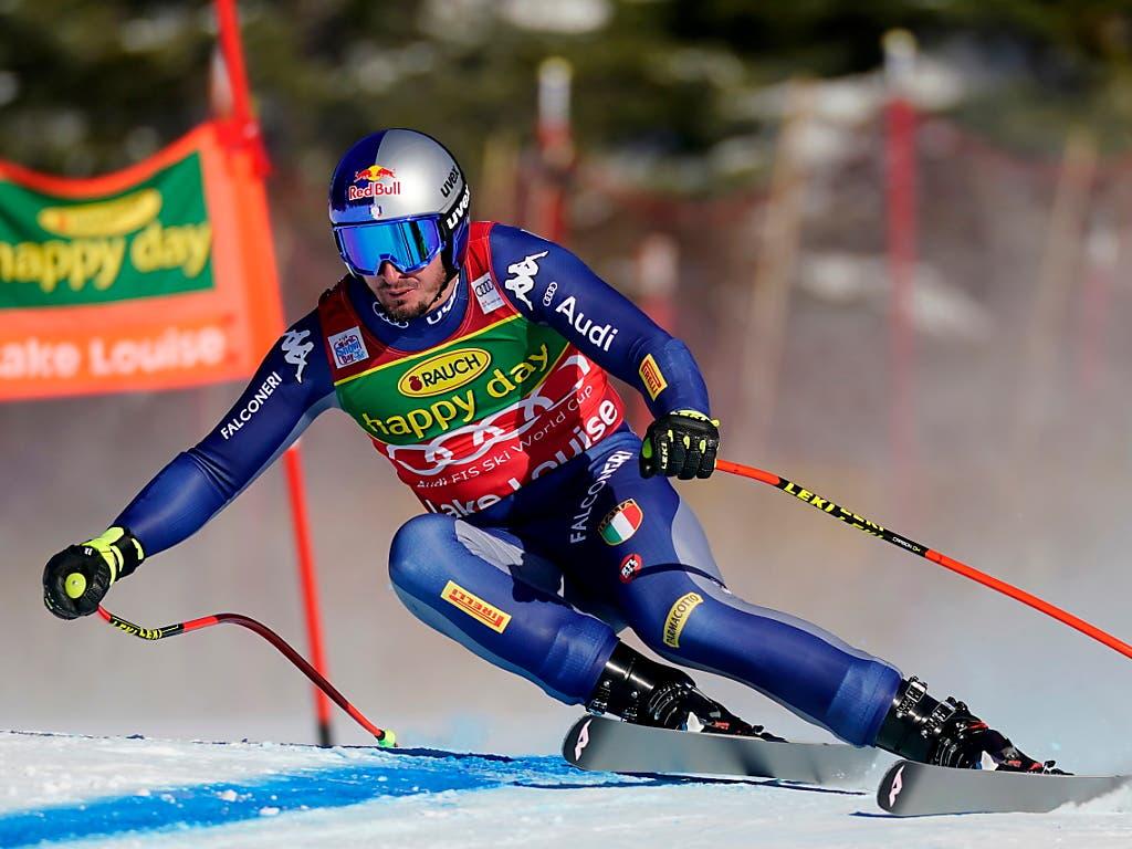 Dominik Paris klassierte sich nach der Abfahrt auch im Super-G in Lake Louise im 2. Rang
