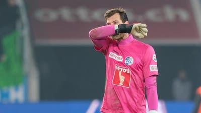 «Wenn ich sehe, wo wir überall herumlaufen, dann tut das weh»: FCL-Goalie Marius Müller. (Martin Meienberger/Freshfocus (Luzern, 1. Dezember 2019))