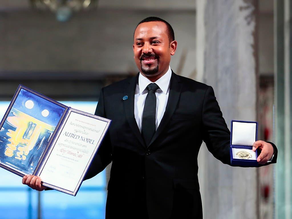 Ein Friedensnobelpreis für ganz Afrika - so sieht es der Preisträger Abiy Ahmed aus Äthiopien.