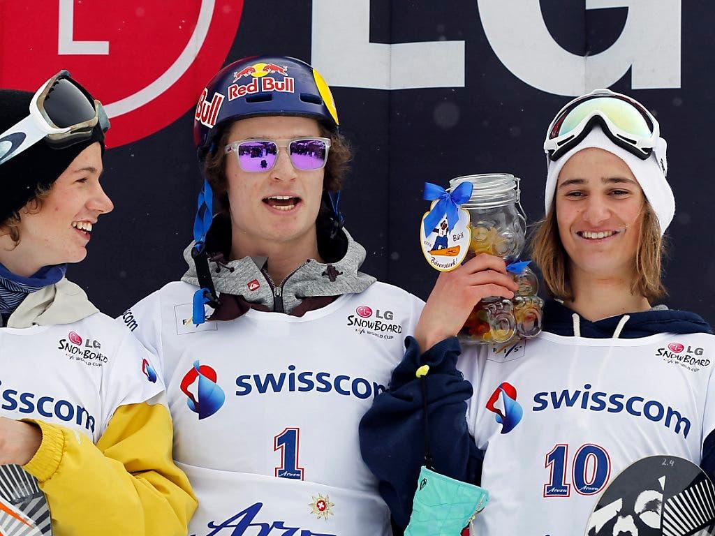Galt schon als junger Bub als zukünftiger Olympiasieger: Pat Burgener (rechts) neben seinem Teamkollegen und damaligem Vorbild Iouri Podladtchikov
