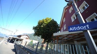 Blick auf den Bahnhof Altdorf. (Bild: Urs Hanhart (17. September 2018))