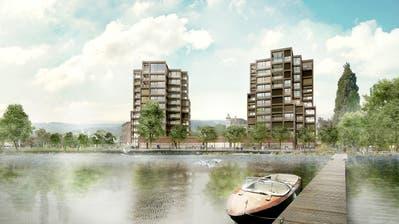 Visualisierung der beiden Wohntürme am Arboner Seeufer. ((Bild: PD))