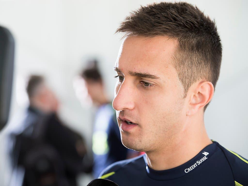 Der Schweizer Nationalstürmer Mario Gavranovic kann mit Dinamo Zagreb die K.o.-Phase erreichen