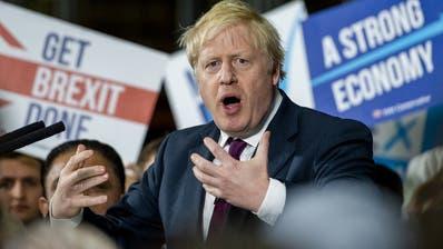 Premierminister Boris Johnson (Tories) bei einer Wahlkampf-Veranstaltung. (Keystone)