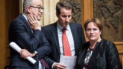 Mögliche nächste Bundesratskandidaten der SVP: Thomas Aeschi und Magdalena Martullo-Blocher. (Alessandro Della Valle, KEYSTONE)