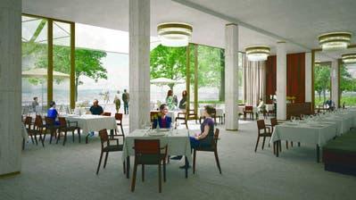 Visualisierung des Gastrobetriebes im Parterre des «Riva». ((Bild: PD))