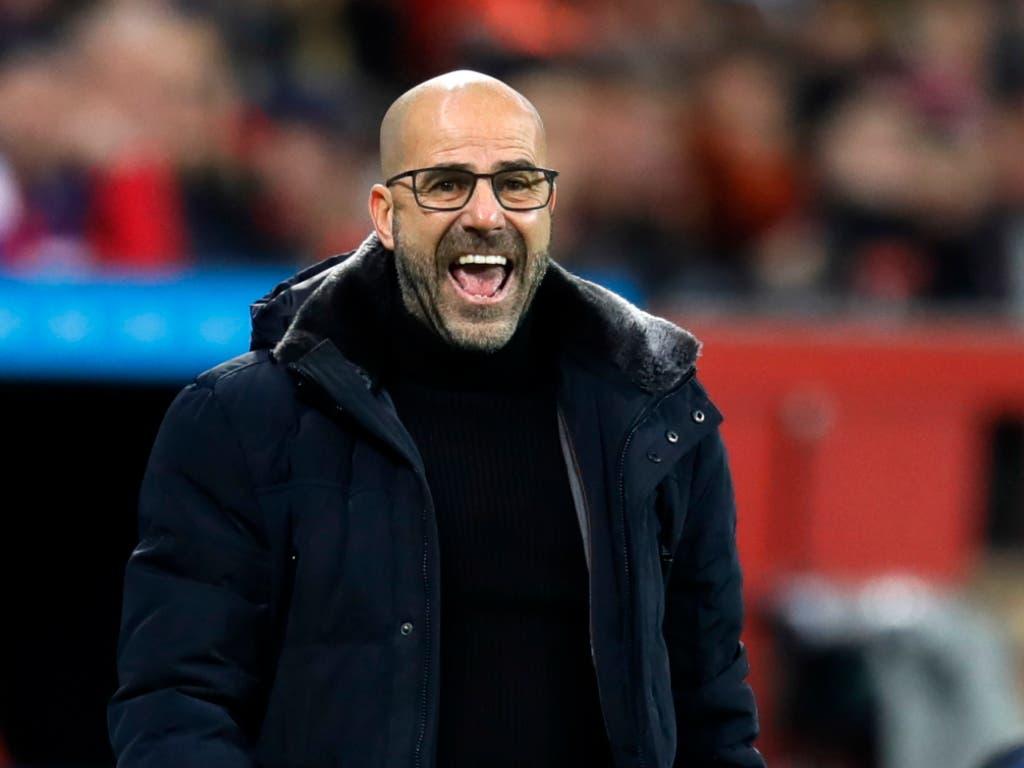 Trainer Peter Bosz hat mit Bayer Leverkusen einen Lauf