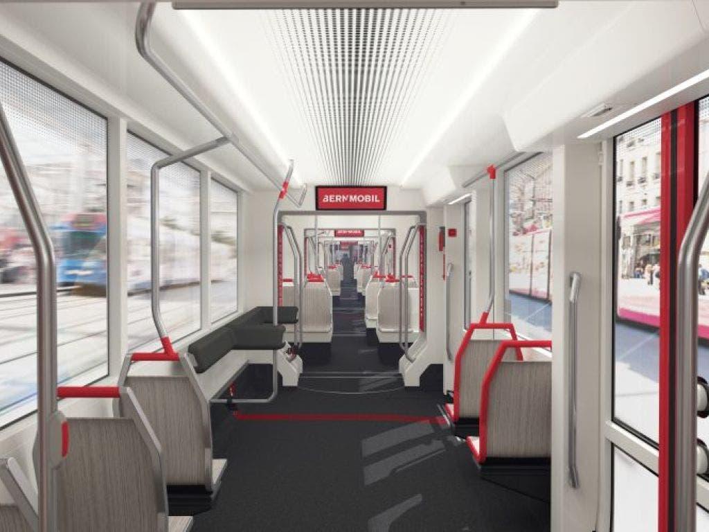 Die neuen Trams bieten einen hellen und barrierefreien Innenraum.