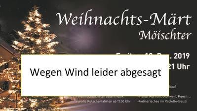 Weihnachtsmarkt in Beromünster abgesagt