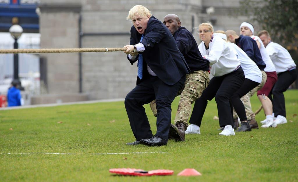 Während des Wahlkampfs zeigte sich Johnson bewusst volksnah.