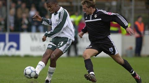 In seinem ersten Spiel im Stadion Espenmoos gegen Lausanne-Sports erzielte Jefferson einen Treffer. (Trix Niederau)