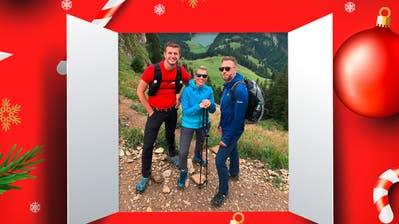 Gemeinsam im Alpstein unterwegs: Nicolas Senn, Diana Gutjahr und Marco Fritsche.