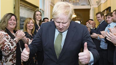 Boris Johnson triumphiert
