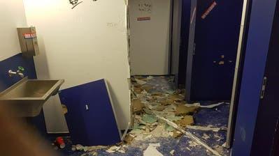 FCB-Chaoten verwüsten WC-Anlage in der Swissporarena