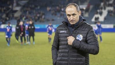 Thomas Häberli am Sonntag, 15. Dezember 2019, nach dem 2:1-Sieg über Basel. Es war sein letztes Spiel als FCL-Coach. (Urs Flüeler/Keystone)