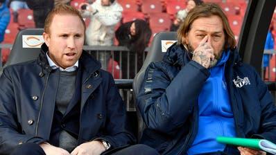 René van Eck (rechts) war zuletzt als Assistenztrainer von Ludovic Magnin beim FC Zürich tätig. (Walter Bieri/Keystone (25.Februar 2018))