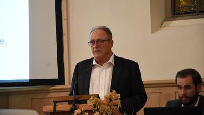 Gemeindepräsident Christian Spoerlé leitete Mitte November die Bürgerversammlung von Ebnat-Kappel. (Bild: Urs M. Hemm)
