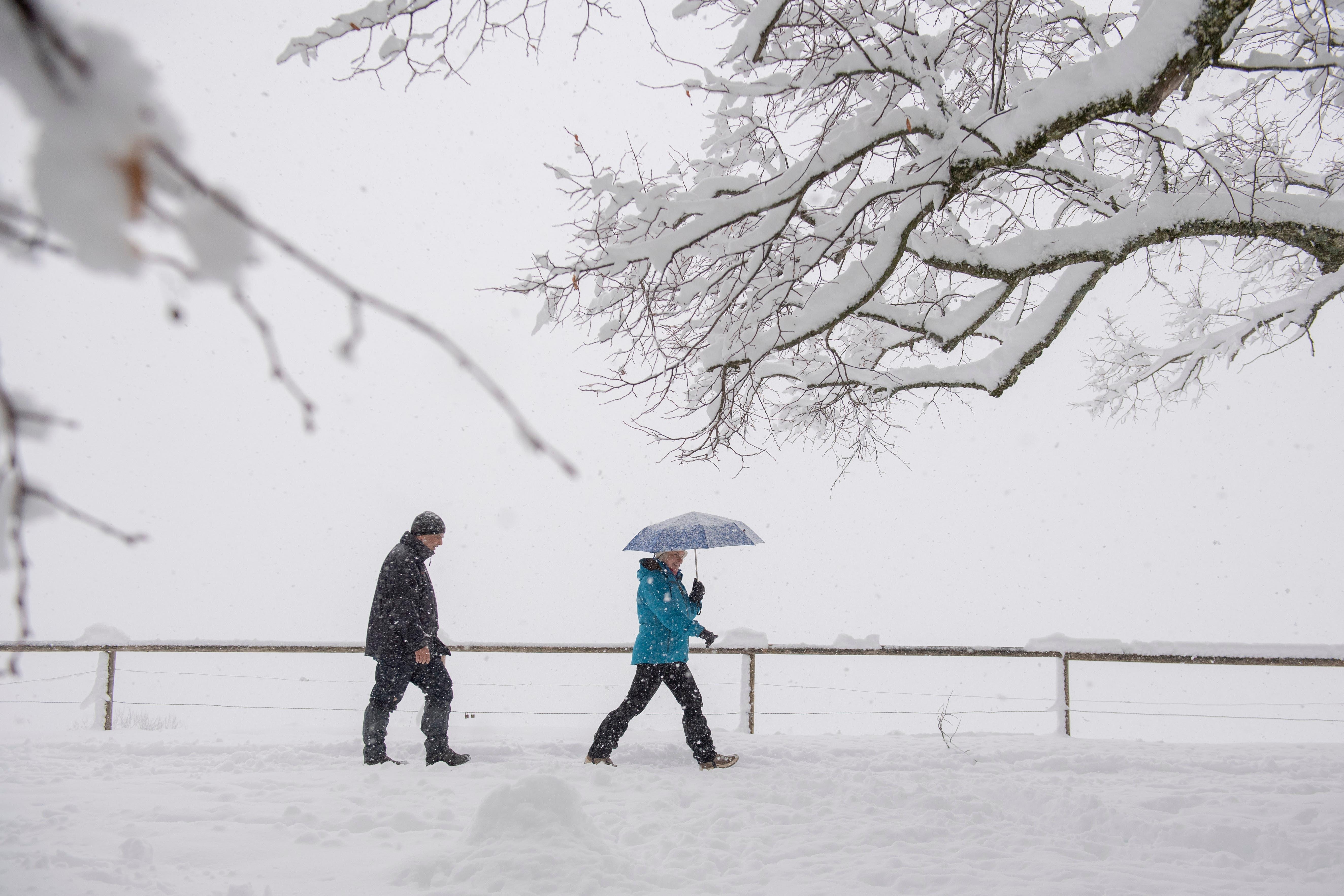6. Januar: Die Ostschweiz versinkt zum Jahresanfang im Schnee, im Bild die Dreilinden in St.Gallen.