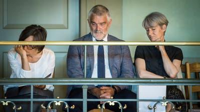 Hans Munz, Präsident des Hochschulrats der PHTG, und Rektorin Priska Sieber (rechts) an einer Sitzung des Grossen Rates. ((Bild: Reto Martin))