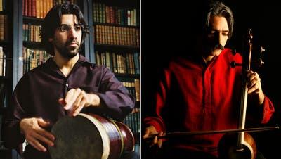 Keyvan Chemirani und Kayhan Kalhortraten in der Tonhalle St.Gallen auf im «Meisterzyklus Grenzenlos». (Bilder: Gilles Abegg, Todd Rosenberg)