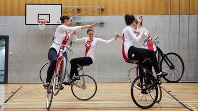 Vanessa Hotz, Saskia Grob, Stefanie Moos und Elena Fischer (von vorne links im Uhrzeigersinn) werden erstmals zu einer WM starten. (Jakob Ineichen (Baar, 29. November 2019))