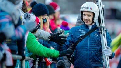 Simon Ammann ist nach wie vor der Liebling der Engelberger Skisprung-Fans. (Bild: Philipp Schmidli; Engelberg, 21. Dezember) (Philipp Schmidli, PHILIPP SCHMIDLI   Fotografie)