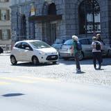Insbesondere für Fussgänger ist die Situation vor der Post Herisau nicht ungefährlich. (Bild: Alessia Pagani)