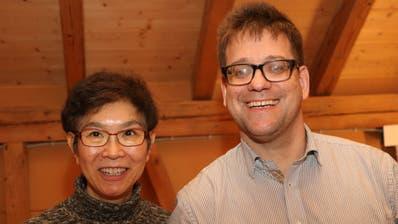 Japan trifft Schweiz: Atsuko Lampart-Fujji und Christof Lampart. (Bild: PD)