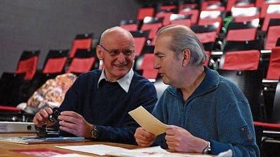 Peter Wenk und Thomas Götz im Theaterhaus Thurgau.