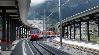 Bahnhof Engelberg fotografiert am 25. August 2015. Verkehr, Zentralbahn, Zb (Corinne Glanzmann (neue Nz), Neue Obwaldner Zeitung)
