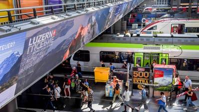 eBordEinweihung eBoard im Bahnhof LuzernFotografiert am 3. Juni 2019 in LuzernNadia Schärli / Luzernerzeitung (Nadia Schärli, Luzerner Zeitung)