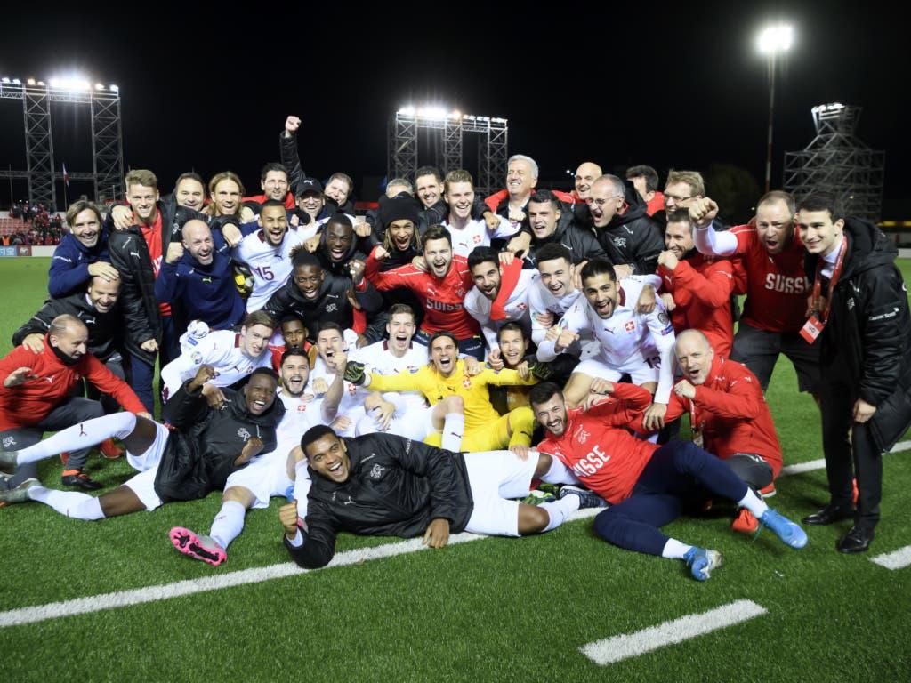 Die Schweizer Fussball-Nationalmannschaft qualifizierte sich zum vierten Mal in Folge für eine Endrunde