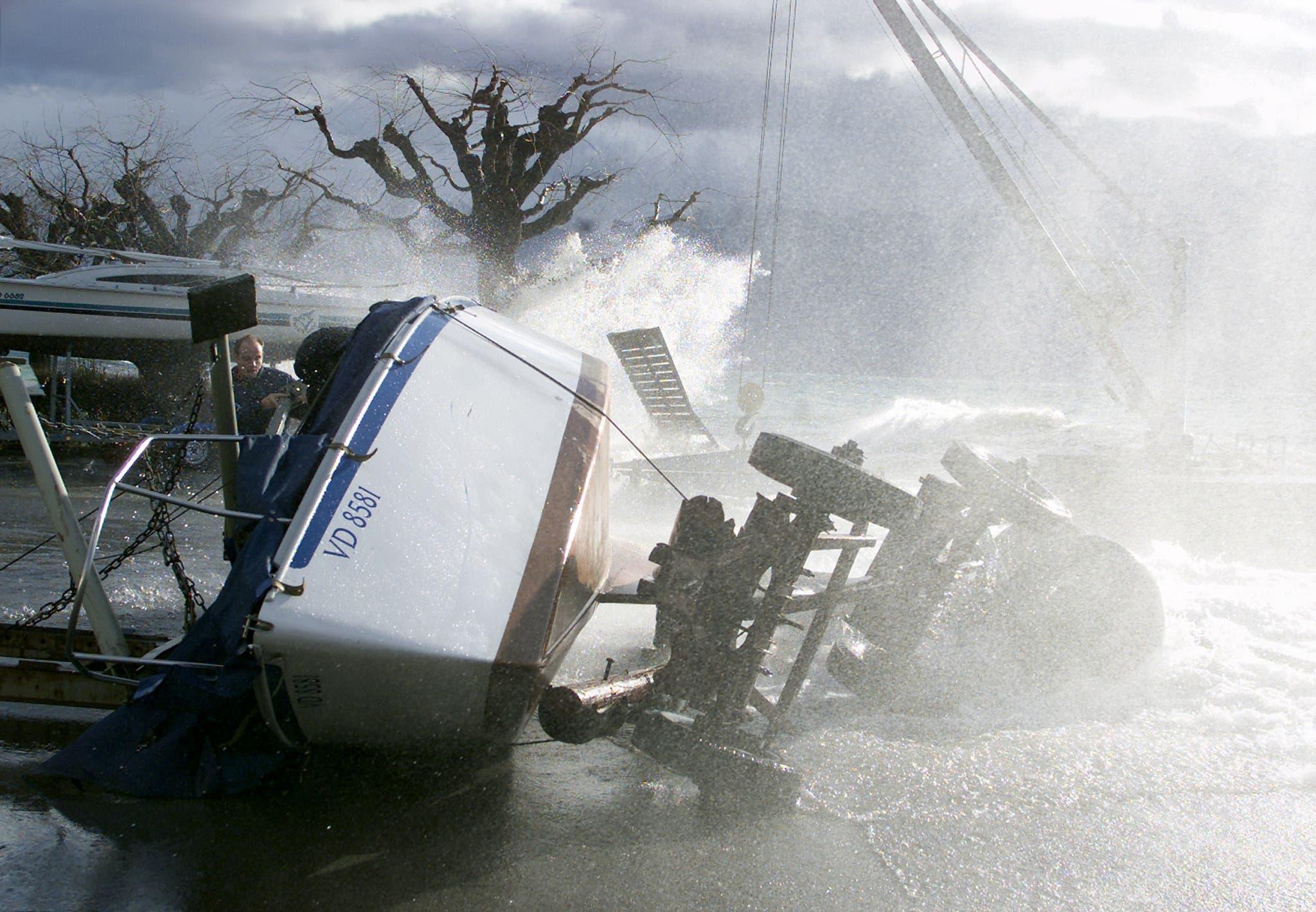 Am Genfersee fegte er Sturm sogar Schiffe um.