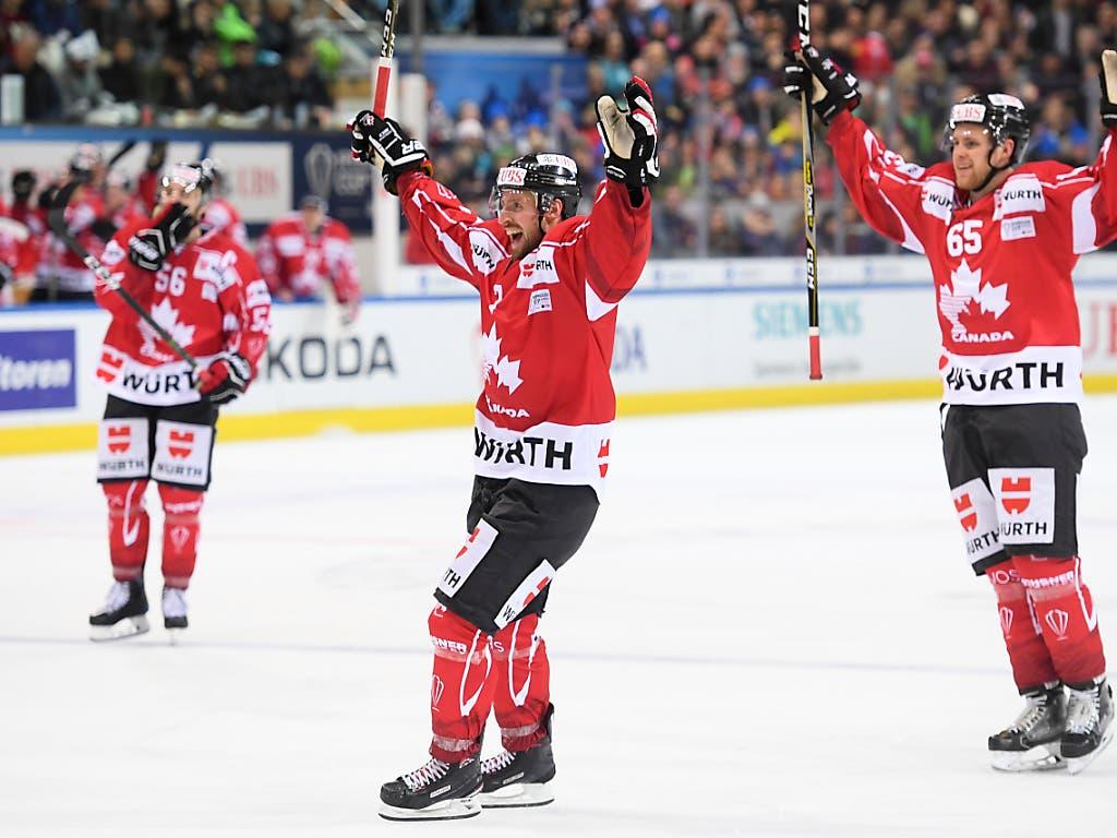 Streben wie Davos den 16. Triumph am Spengler Cup an: das Team Canada, das bei 35 Teilnahmen 23 Mal im Final stand