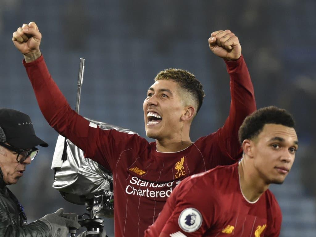 Liverpools Doppeltorschütze Roberto Firmino nach dem Sieg im Spitzenspiel gegen Leicester
