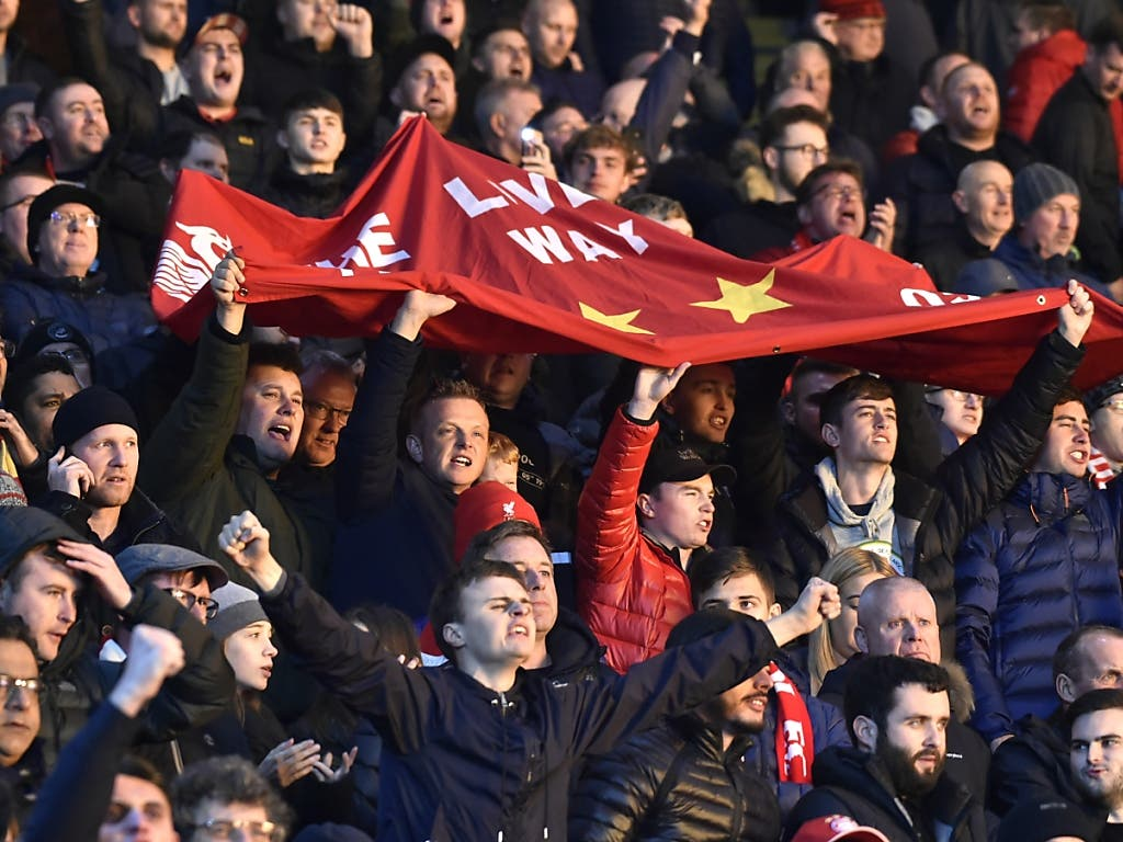 Nach dem 4:0 in Leicester können die Liverpool-Fans schon fast über den Meistertitel jubeln
