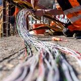 Im Februar dieses Jahres wurde der reguläre Ausbau des offenen Glasfasernetzes in der Stadt St.Gallen abgeschlossen. (Keystone/Carlo Reguzzi)