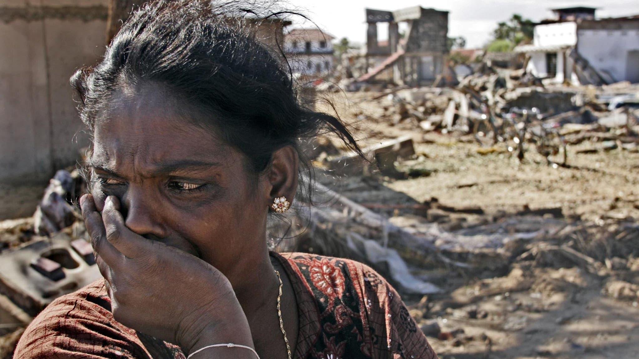 Unfassbare Trauer: Eine Frau verliert ihre beiden Kinder in den Fluten.