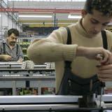 Sollten die Kapazitätsauslastungen weiter abnehmen, müssten einige Firmen die Kurzarbeit einführen. (Symbolbild: Trix Niederau (Arbon, 17. Oktober 2006))
