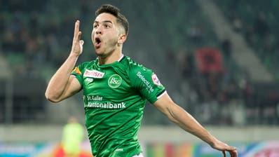 Boris Babic und der FC St.Gallen hatten Grund zum Jubeln. (Michel Canonica)