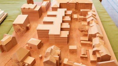 Ein Modell des Erweiterungsbaus zum Regierungsgebäude. Über den Kredit befindet das Thurgauer Stimmvolk im Mai. ((Bild: Donato Caspari))