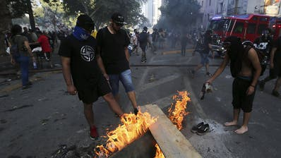 Neue Ausschreitungen bei Protesten gegen die Regierung in Chile