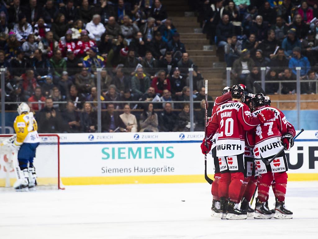 Das Team Canada im Torjubel