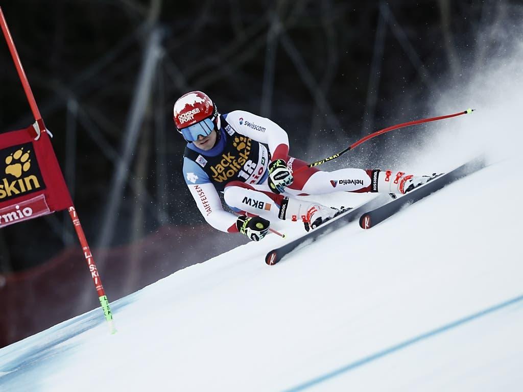 Loïc Meillard bringt sich mit Platz 8 im Super-G in eine günstige Position