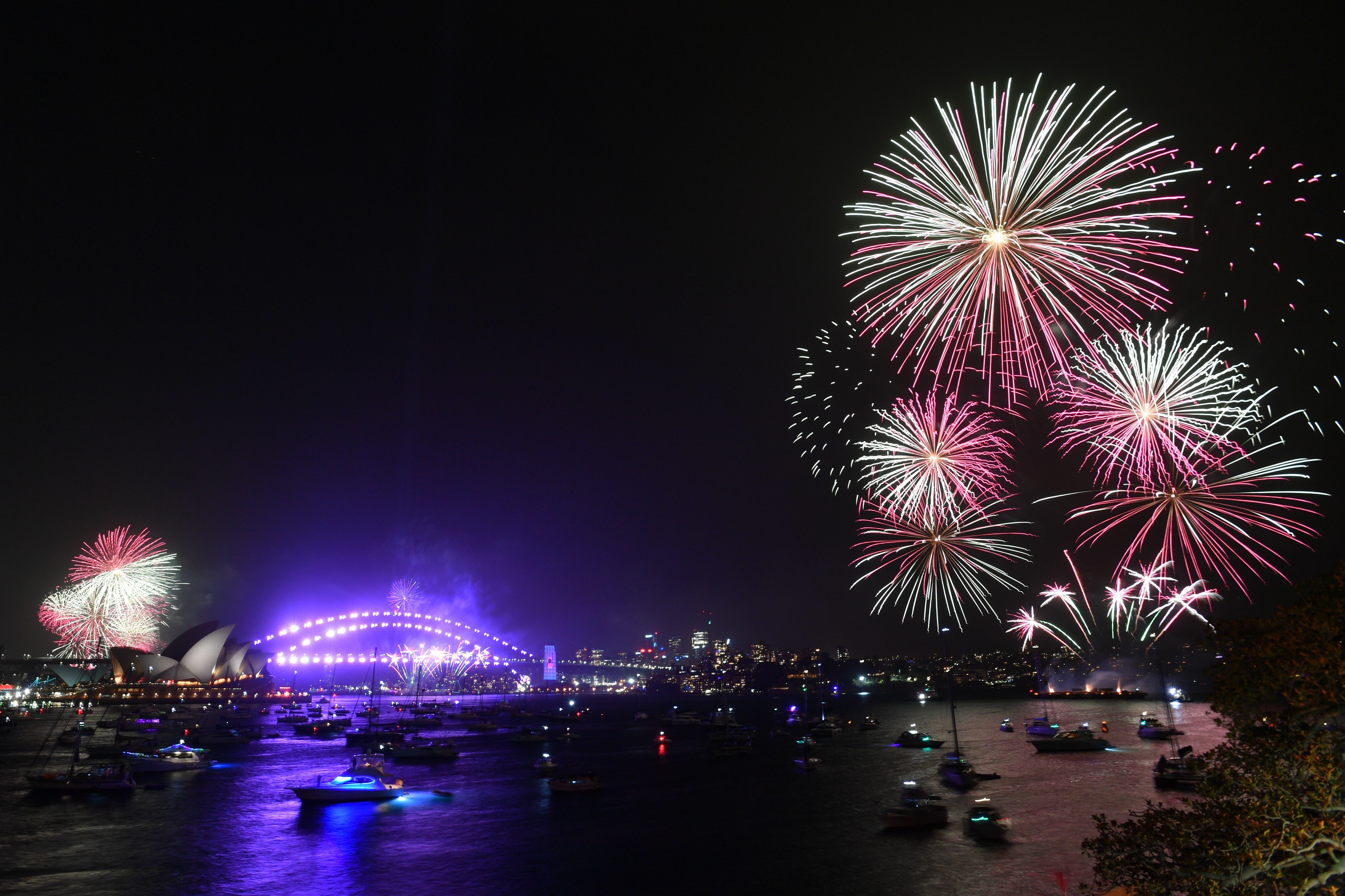 Das «kleine» Feuerwerk über Sydney für Familien um 21 Uhr Ortszeit.