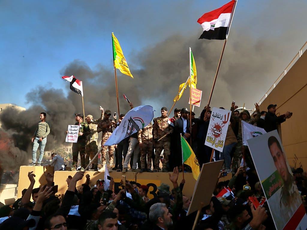 An Silvester eskalierte in Bagdad bei der US-Botschaft die Situation.