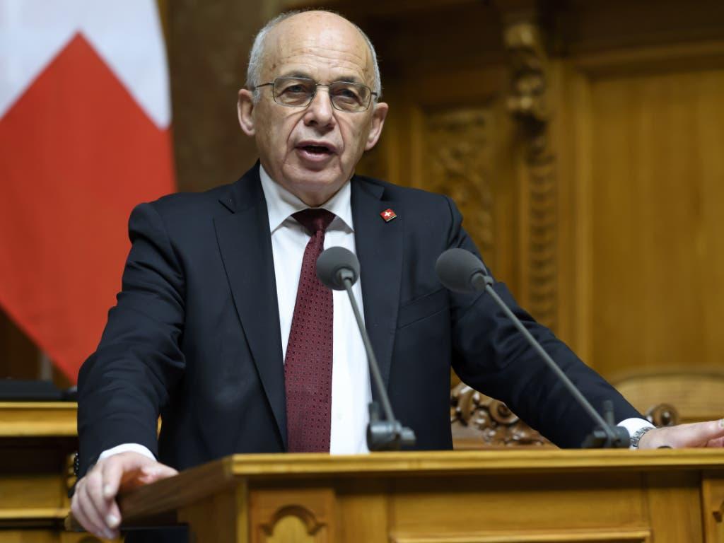 Bundespräsident und Finanzminister Ueli Maurer in der Debatte über den Voranschlag 2020 im Nationalrat.