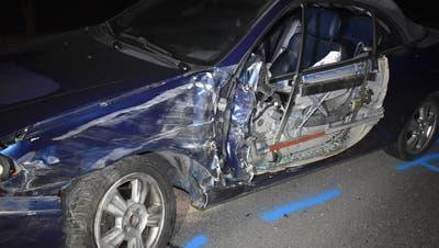 Das in den Unfall involvierte Auto. (Bild: Luzerner Polizei)